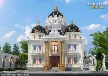 Biệt thự 3 tầng tân cổ điển sang trọng đẳng cấp – ACHI 31005