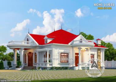 Hình ảnh: Phối cảnh 3D mặt tiền biệt thự tân cổ điển đẹp – Mã số: ACHI 11031