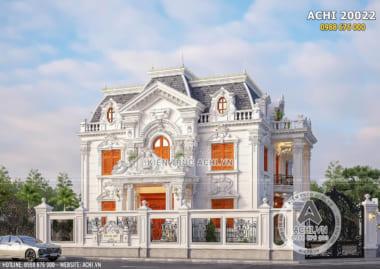 Hình ảnh: Mẫu biệt thự 2 tầng 1 tum nổi bật với màu sắc hài hòa