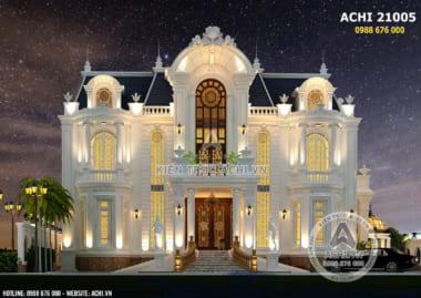 Mẫu biệt thự tân cổ điển sang trọng 3 tầng lộng lẫy về đêm