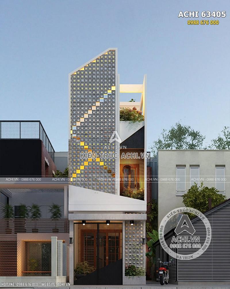 Hình ảnh: Mặt tiền mẫu nhà phố 3 tầng hiện đại độc đáo