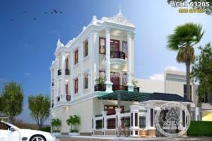 Mẫu thiết kế nhà phố tân cổ điển 3 tầng tại Thái Bình – ACHI 63205