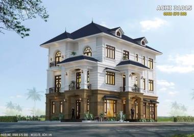 Hình ảnh: Mẫu nhà 3 tầng tân cổ điển đẹp sang trọng – ACHI 31015