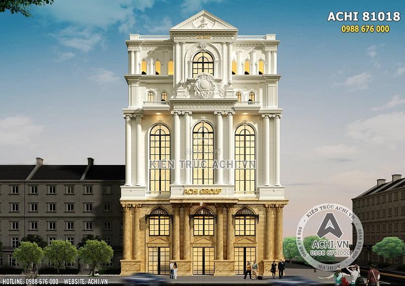 Hình ảnh: Mặt tiền 20m của mẫu thiết kế khách sạn nhà hàng