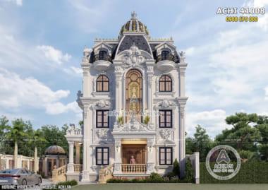 Hình ảnh: Chi tiết sảnh của biệt thự kiến trúc tân cổ điển– ACHI 41008