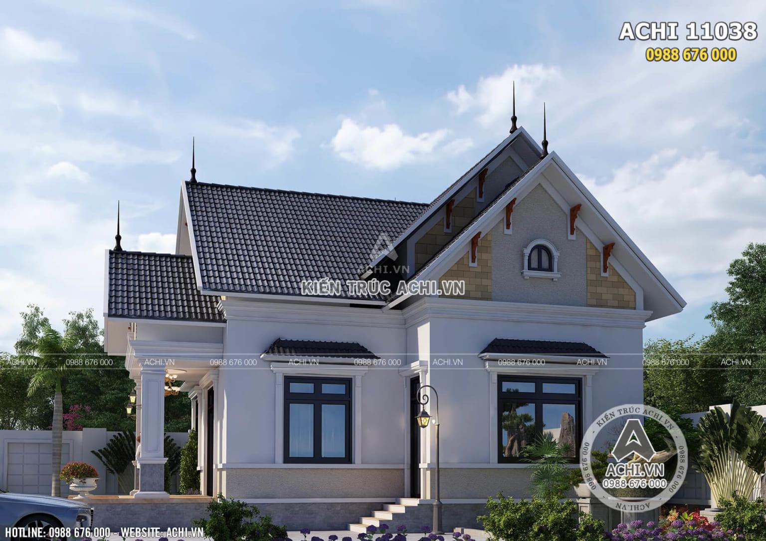 Hình ảnh: Mẫu nhà cấp 4 đẹp tại Cao Bằng – ACHI 11038