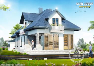Hình ảnh: Mặt tiền mẫu nhà mái thái đẹp– ACHI 13505