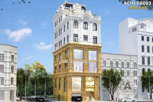 Mẫu nhà phố kết hợp kinh doanh khách sạn ấn tượng – ACHI 68003