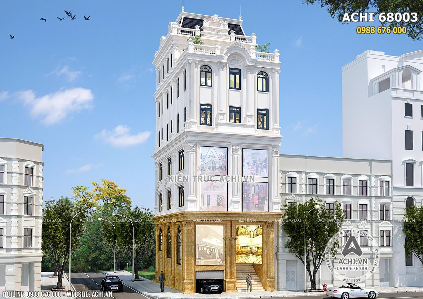 Hình ảnh: Mặt tiền nhà phố tân cổ điển đẹp, mới lạ– ACHI 68003