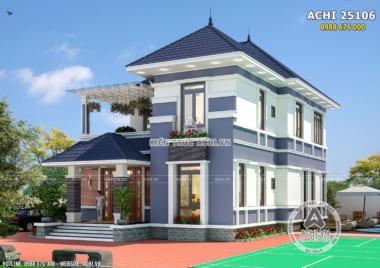 Hình ảnh: Mẫu thiết kế nhà mái nhật 2 tầng đẹp– ACHI 25106