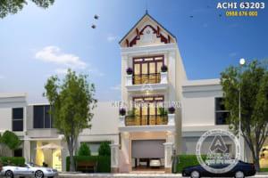 Thiết kế nhà phố 3 tầng 90m2 tân cổ điển tại Quảng Ninh – ACHI 63023