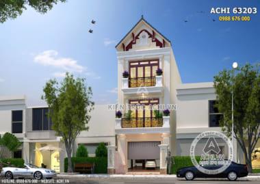 Hình ảnh: Mặt tiền thiết kế nhà phố 3 tầng tại Quảng Ninh – Mã số: ACHI 63023