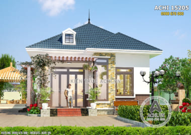 Hình ảnh: Nhà 1 tầng cấp 4 mái thái đơn giản đẹp sang trọng – ACHI 15205