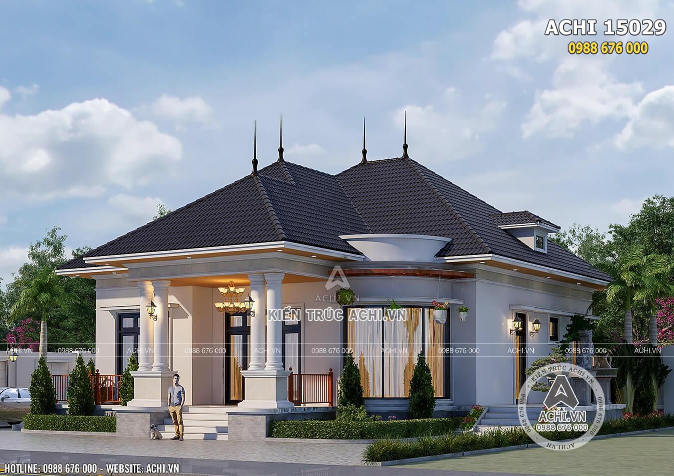 Hình ảnh: Ngôi nhà vườn 1 tầng mái thái ấn tượng và sang trọng– ACHI 15029