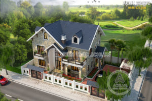 Biệt thự nhà vườn 2 tầng mái Thái diện tích 140m2 5 phòng ngủ – ACHI 23032