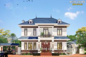 Mẫu biệt thự 2 tầng mái Thái đẹp mặt tiền 13m – Mã số: ACHI 23105