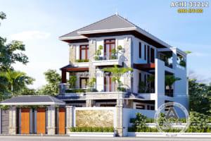 Biệt thự 3 tầng mái Thái mặt tiền 10m 5 phòng ngủ – Mã số: ACHI 33212