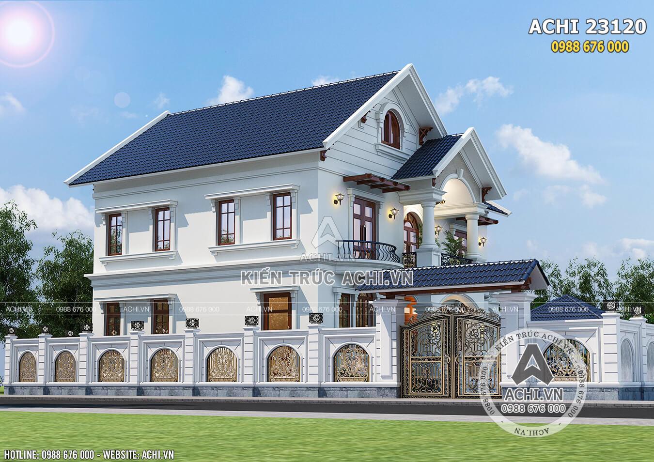 Hình ảnh: Một góc view của biệt thự vườn 2 tầng tại Ninh Thuận – ACHI 23120
