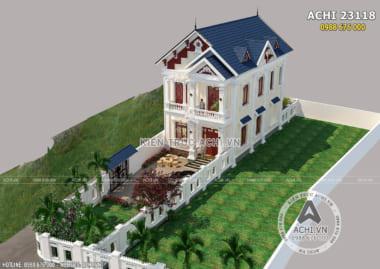 Hình ảnh: Nhà 2 tầng mái thái mặt tiền 8m kiến trúc tân cổ điển tại Thanh Hóa – ACHI 23118