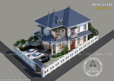 Hình ảnh: Mẫu thiết kế biệt thự 2 tầng hiện đại – ACHI 23101
