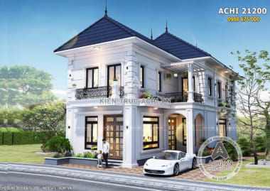 Hình ảnh: Thiết kế biệt thự tân cổ điển 2 tầng sang trọng – ACHI 21200